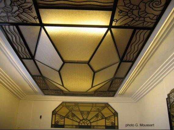 plafond de la salle
