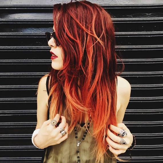 ombr hair rouge tirant vers blond comment convaincre ses parents beaut des cheveux. Black Bedroom Furniture Sets. Home Design Ideas