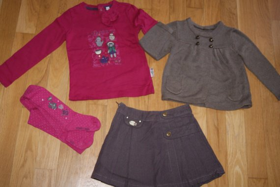 Ensemble 4 ans 4 pièces sergent major collant 25-26