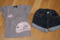 Short zara 2-3 ans + t-shirt lili gaufrette 3 ans 20€ TBE
