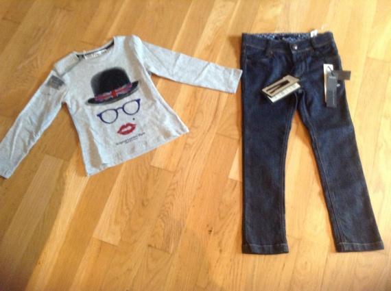 Jean's IKKS + Tshirt take two teen 4ans