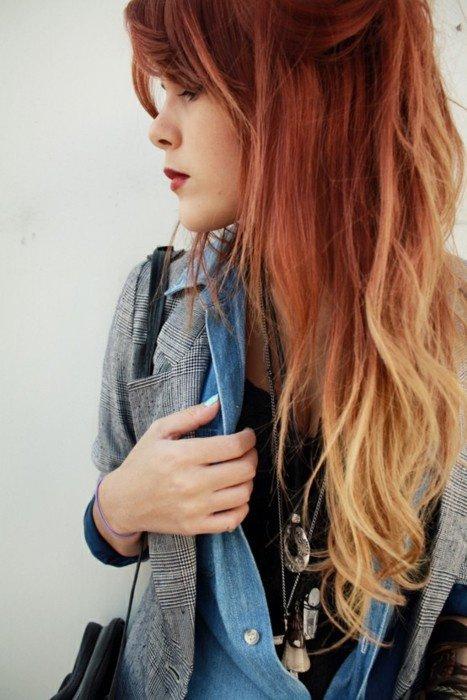 Cheveux rouges ombre air coiffure et coloration - Ombre et air ...