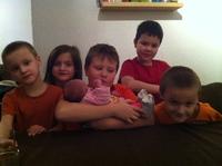 Laurène et tous mes cousins