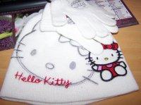 7€ Lot Bonnet et Gant Hello Kitty