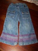 1.50€ Jeans Okaidi taille ajustable 3ans