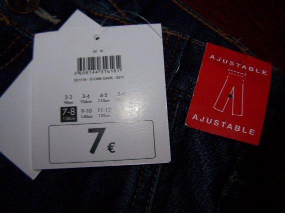 Vue de l'étiquette NEUF 7/8ans