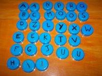 Apprendre l'alphabet ( bouchon de lait )