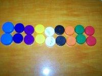 Pour apprendre les couleurs ( divers bouchon )