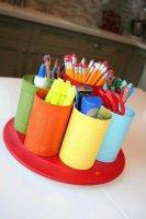 Boite à feutre, crayon de couleur etc ....