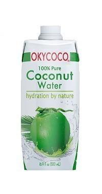 organic coconut water drink.