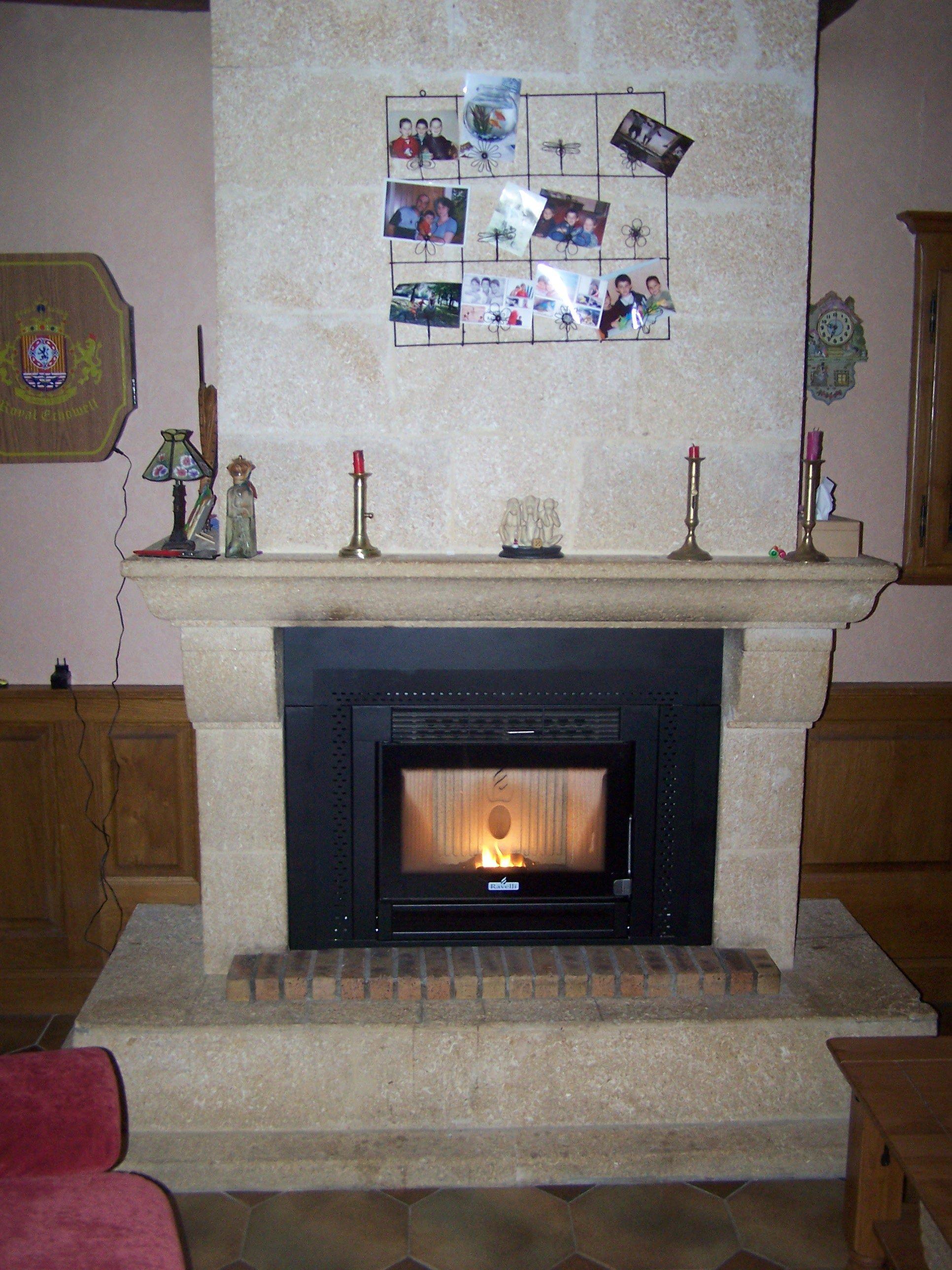 remplacer insert bois par insert granules. Black Bedroom Furniture Sets. Home Design Ideas