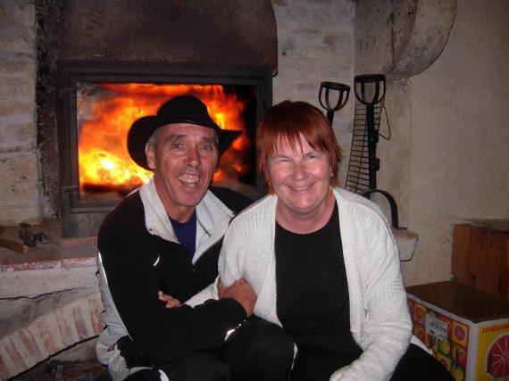 un bon feu de cheminée a oberge sa va vous réchauffé ! bisou a vous tous