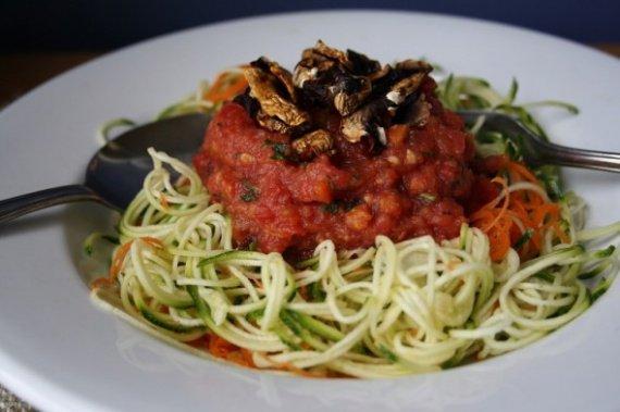 Spaghettis de courgette