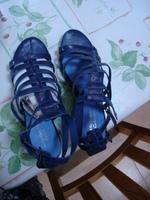 Sandales à talons bleu La redoute T 41 Neuves avec boîte 3