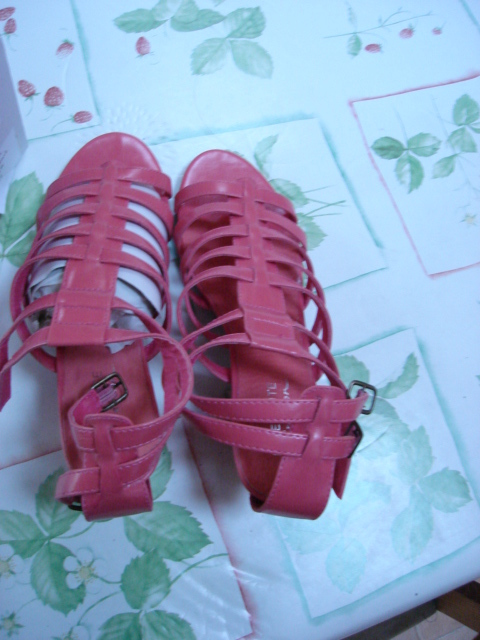 Sandales à talons corail La redoute T 41 Neuves avec boîte 3