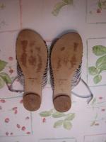 Sandales plates argentées  Morena Gabrielli T41 TBE 3