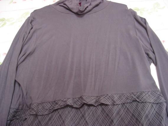 Robe effet 2 en 1 tunique col roulé + jupe T 46 48 Blancheporte TBE 3