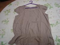 Lot 2 tee-shirts manches courtes unis Riu T 4 = 44 46 beige et grège TBE 9