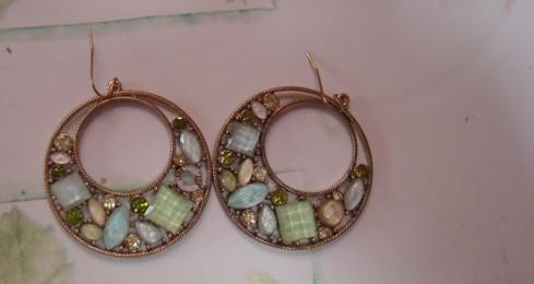 Lot 13 paires de grandes boucles d'oreilles pour oreilles percées neuves ou TBE 10