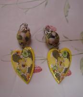 Lot 13 paires de grandes boucles d'oreilles pour oreilles percées neuves ou TBE 03