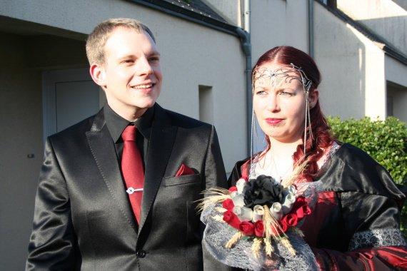 Les mariés ... ensemble !