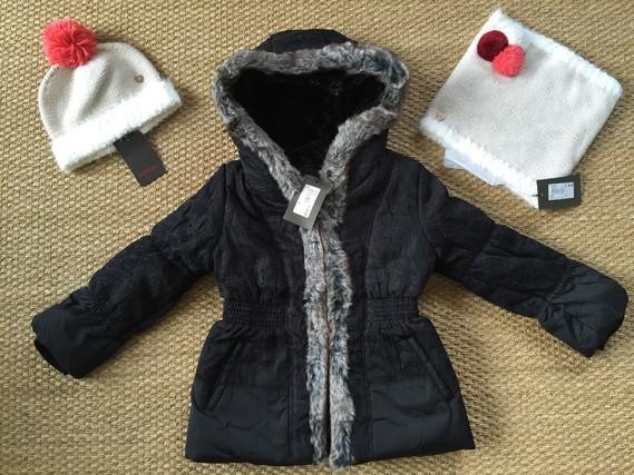 Féerie rock catimini 5 ans , bonnet 51 cm, snood t1