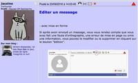 Editer un message