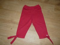 "leggins rouge neuf ""Week End à la mer"" 4 ans - 8€"