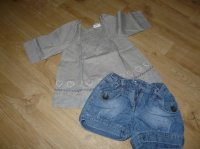 ensemble tunique + short jeans Verbaudet 4 ans - 10€