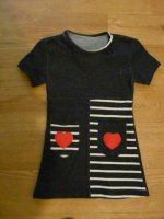 2€ - robe avec coeur - 12 mois