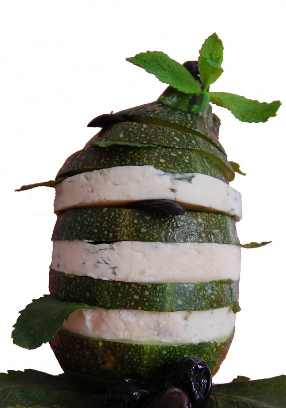 salade courgette tower