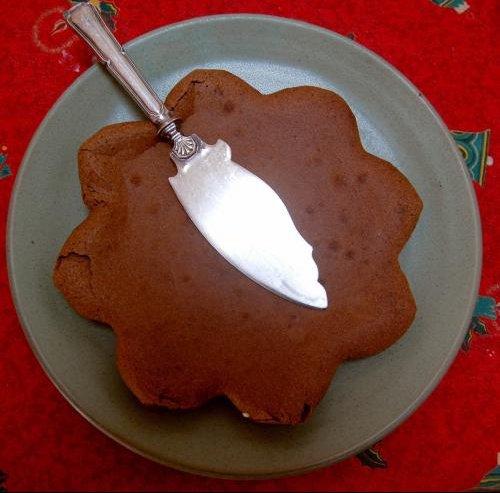 presentation gateau au chocolat maman