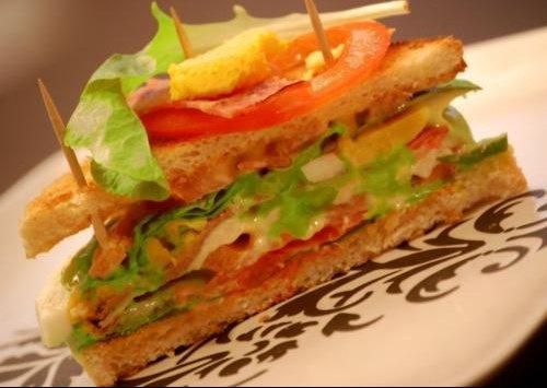 gros plan club sandwich