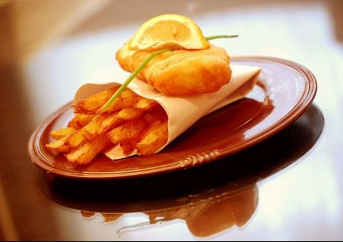 presentation fish and chips