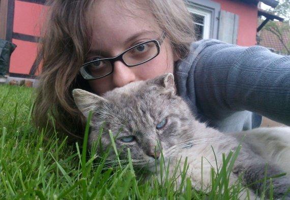 après une belle sieste dans l'herbe