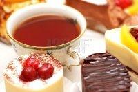 tasses thé et gâteaux