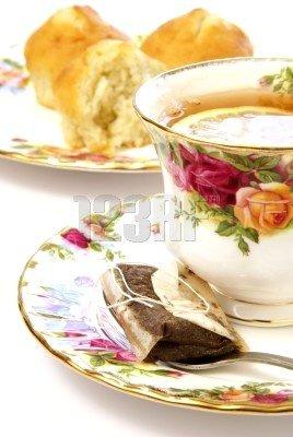 tasse thé fleurie