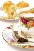 tasse thé fleurs