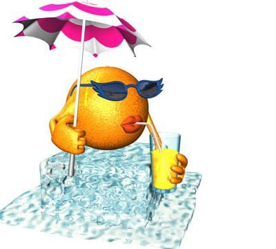 smiley sirote boisson sur glaçcons parasol