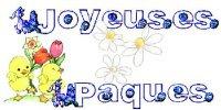 pâques joyeuses pâques 2 poussins