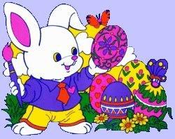 Pâques lapin peint oeufs