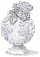 nounours globe terrestre