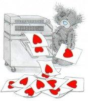 nounours photocopie coeur