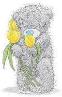 nounours tulipes