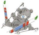 nounours au ski