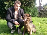 Mon Ange et Nala (notre berger x sharpei de 7 ans récupéré a la spa le 2 oct 2010)