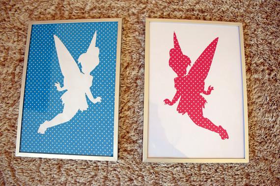 2 fées clochette (en tissus et papier)