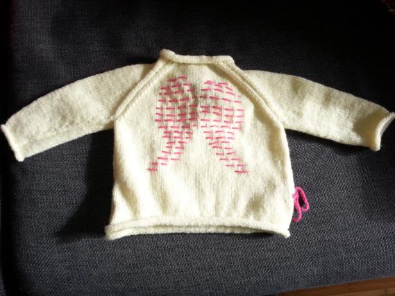 brassière 1 mois dos en tricot