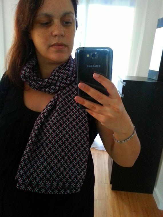Cape d'allaitement couture en écharpe