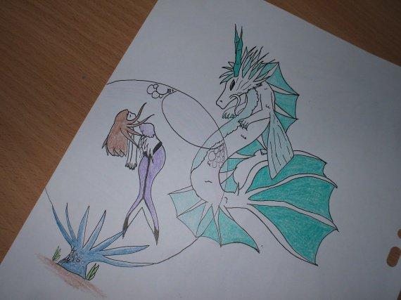 Dragon mers + Syrène